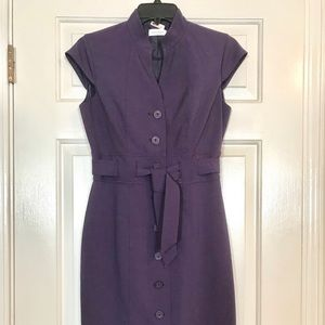 Calvin Klein Purple Button Down Dress